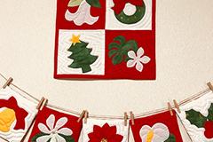 クリスマスミニタペストリー&ガーランド